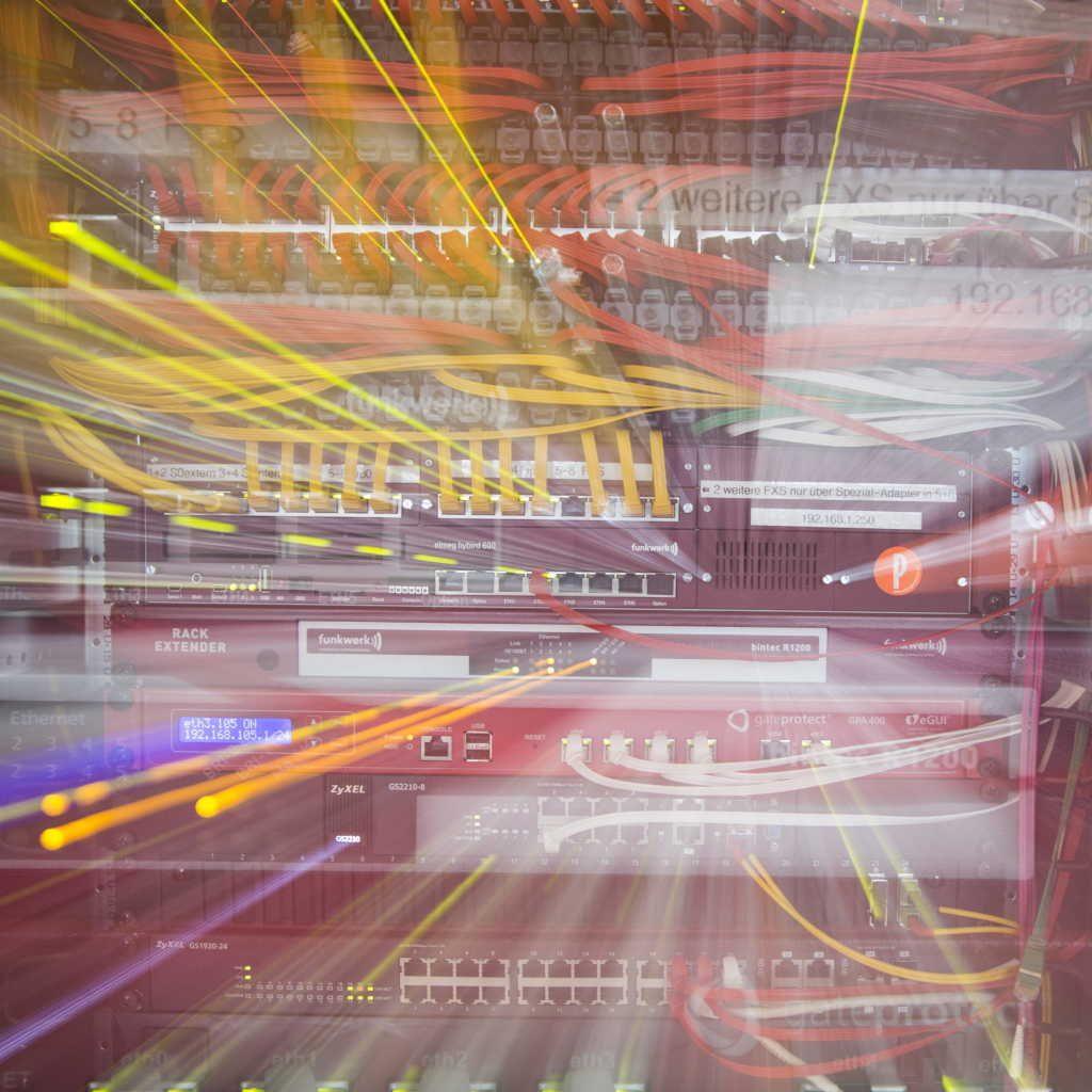 Serverrack-Detail, künstlerisch bearbeitet
